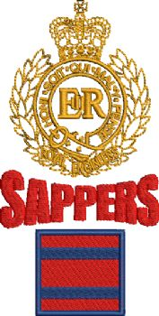 RE-SAPPERS-TRF EMBROIDERED POLO SHIRT